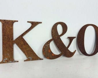 Rusted Steel '&' Ampersand Sign Symbol