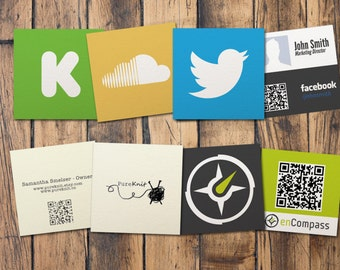 Square Business Cards  on 130# Recycled Uncoated Stock