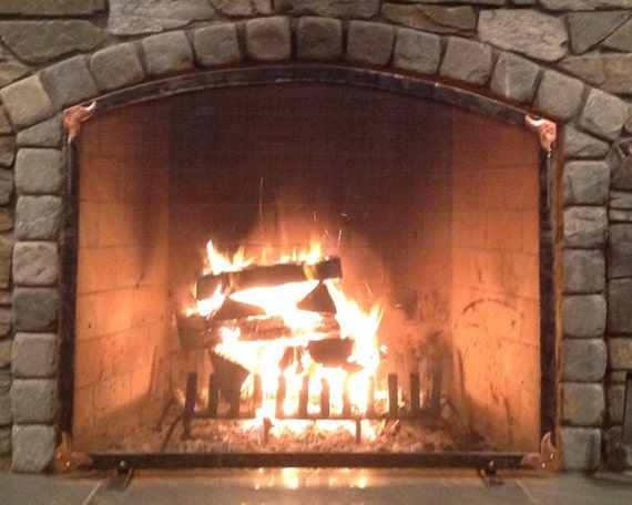 Forged Fireplace Screens : Fireplace screen hand forged arch ouray model