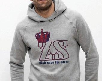 Sweatshirt hoodies organic fair trade cotton grey mottled Visual Steez