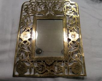 Handmade brass mirror