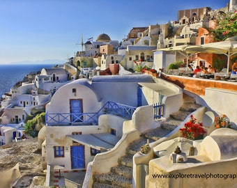 Wall Art 40% off Digital Download Santorini Greece Fine Art Landscape Photography - Instant Digital Download Printable Print