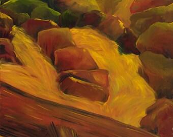 breitenbush river, Oregon: print on canvas