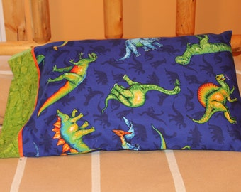 1 pair pillow cases with dinosaurers