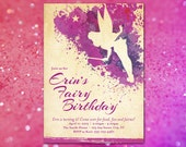Tinkerbell Birthday Party Invitation for Your Little Princess