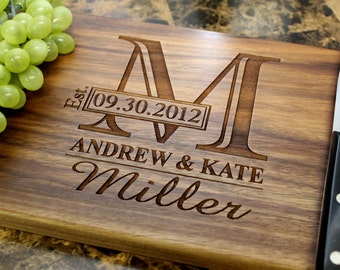 Personalized Cutting Board - Engrave Cutting Board, Custom Personalized Wedding Gift, Anniversary Gift, Housewarming Gift, Birthday Gift.001