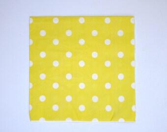Yellow Polka Dots Napkin Pack of 20