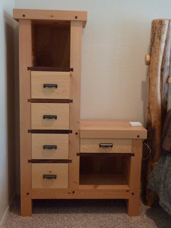 Items similar to timber frame 5 drawer nightstand on etsy How tall is a nightstand