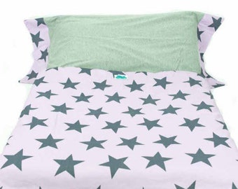 Duvet cover for cradle. Mauve Star
