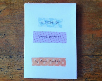A Guide to Letter Writing mini zine