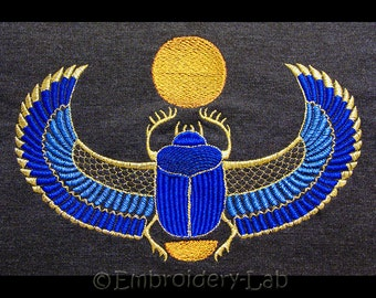 Egyptian Scarab big - machine embroidery design