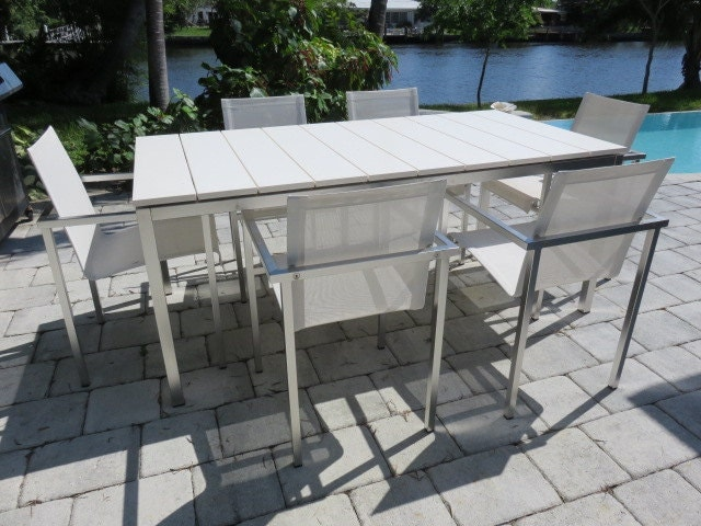 Vintage Tribu Mid Century Modern Patio Table And Chairs