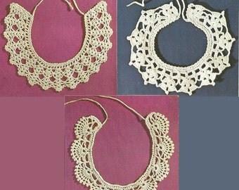 Vintage Children's Collars Crochet PDF Pattern