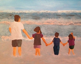 "Acrylic Painting ""At The Beach"""