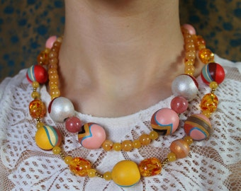 Hand Painted Retro Necklace