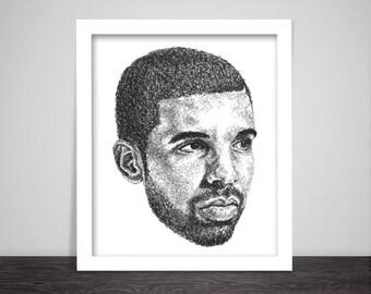 Scribbled Drake - Hip Hop Poster