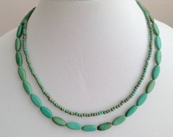 Dainty Double Stranded Magnesite Necklace