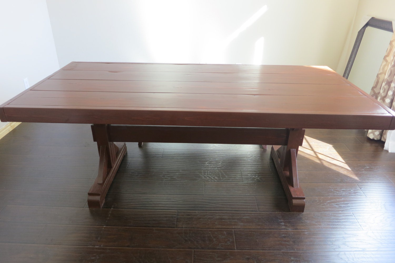 farm style dining room table by solidwoodworking on etsy