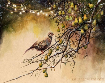 Partridge in a Pear Tree 8.5x11 Print