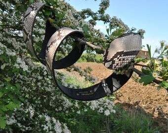 Python rock belt wild west-python belt italian handcraft