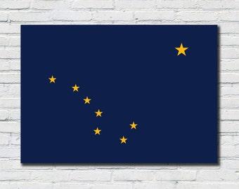 Alaska State Flag Poster, Alaska State Flag Decor, Alaska State Flag Art, Alaska State Flag Print, Alaska State Flag, Alaska State Flag Sign