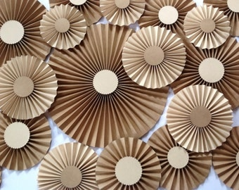 CRAFT Paper rosettes /Pinwheels /Paper fans /Wedding décor / Eco friendly décor /Centrepieces Set of 20