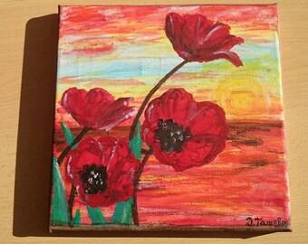 "Handmade painting ""Рoppies"""