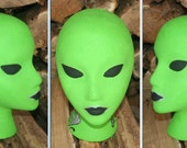 """Hand Painted & Decorated """"PAULETTA"""" Mannequin Head Prop Hat, Scarf, Headband, Glasses, Wigs"""
