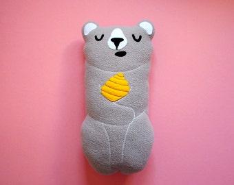 Honey Bear, Baby Pillow, Baby Cushion, Nursery Decor, Papa Bear, Daddy