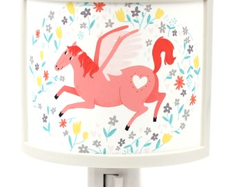 Pink Pegasus with Heart and flowers MAGICAL Bathroom hallway Bedroom GET IT nightlight Nite Lite