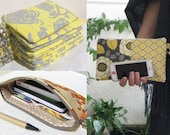 CREATE your 6 Wedding clutches,  gift pouches,  2 pockets, bridesmaids, flower girls, you choose 6 pouches.