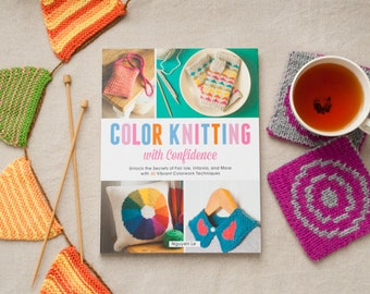 Knitting Patterns - Color Knitting with Confidence - Craft Book - Stripes - Slip Stitch - Intarsia - Stranded - Double Knit - DIY