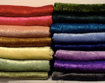 Fleece & Crushed Panne Velvet Throw Blanket - Variety of Colors Available