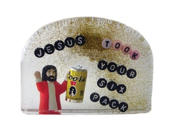 Postcard: Jesus Took Your Six Pack- Hilarious Card, Weird Postcards, Art Postcards, Postcrossing, Boyfriend Card, Girlfriend Card
