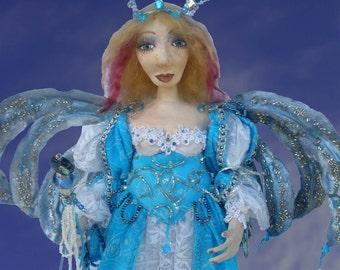 ANKARA, One Of A Kind, Fairy, Queen, Clay Doll, Fiber Art, Unique Gift, Michelle Munzone, bamboledesigns, Art Doll, Home Decor, sculpture