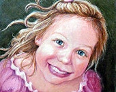 Children's Portrait Drawing Colored Pencil from your Photos, Custom Portrait, Art Drawing, Unique Gift, Kids, Child