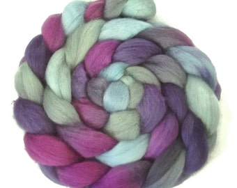 Handpainted BFL Wool Roving - 4 oz. EMILY - Spinning Fiber