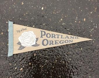 Portland Oregon Screenprinted Pennant