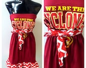 Iowa State Gameday Dress, ISU Dress, Cyclone Dress, Iowa State Chevron Dress, Chevron Dress, Chevron Gameday Dress, Gameday Dress