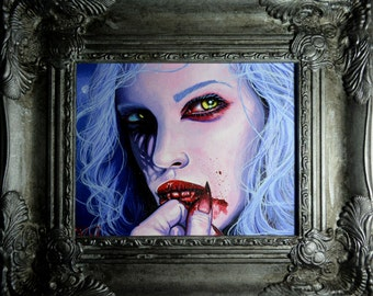 RW2 Original Vampire Painting Draculaura by Robert Walker Monster High