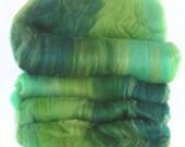 handcarded batts spinning fiber 3.7 oz