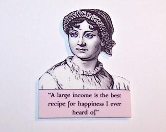 JANE AUSTEN Literary Quote Pin