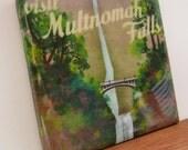 Visit Multnomah Falls Oregon Tile Coaster