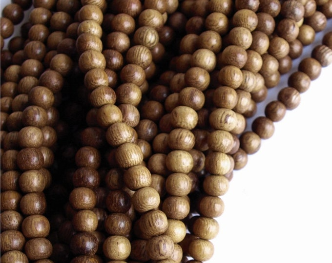 Wood Bead, Round 5mm, Robles - Ten 16 Inch Strands