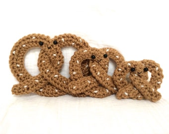 Crochet Pretzel Family -- PDF PATTERN only
