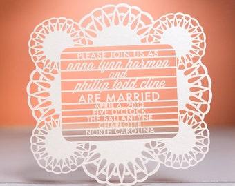 Radiant Wedding Invitation, Laser Cut
