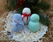 Snowman Silicone Mold Hand Made Sculpted Winter Holiday Christmas Design DIY Glycerin Soap Melt Pour Craft Molds