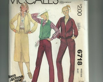 McCall's Misses' Unlined Jacket, Vest, Skirt, and Pants Pattern 6718