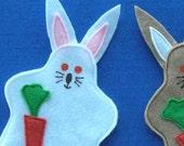 Bunny Rabbit Puppet Party Favor, Handpuppet, Party Toy