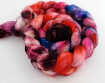 hand-painted super wash mernino wool and nylon roving (top)